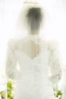 Photo of a veiled bride, symbolizing the question,