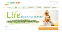 Life Hope and Truth home page screen shot.