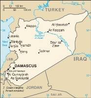 Map of Syria from the CIA World Factbook